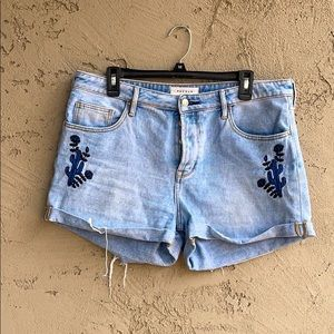 Pacsun Embroidered Girlfriend Short size 30